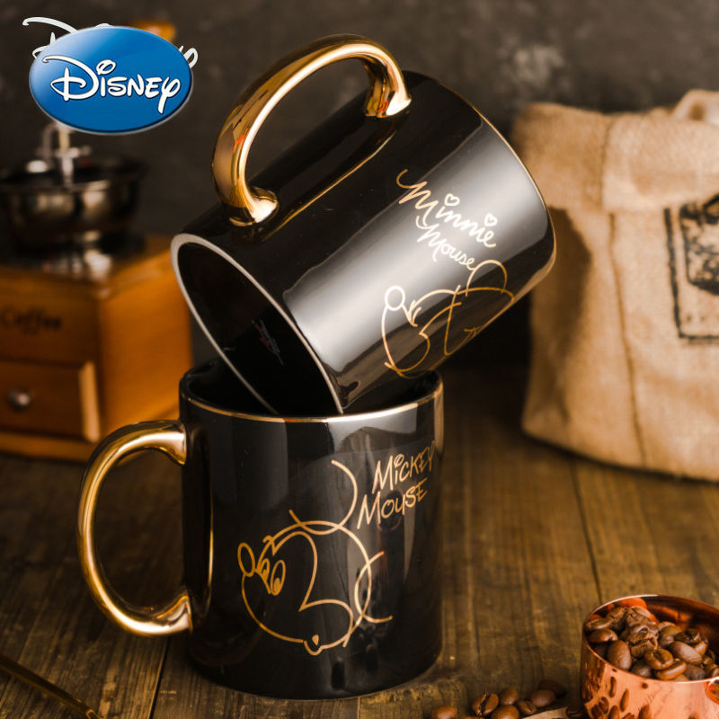 حقيقي ديزني السيراميك القدح الأعجوبة كوب ماء كوب فنجان قهوة الإبداعية ميكي ميني زوجين كوب ماء الإناث