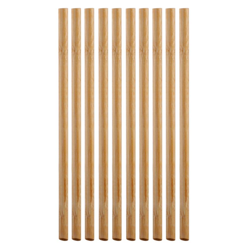 "Sorbetes reutilizables de bambú orgánico 10 Uds. Con cepillo de fibra de coco 20cm 8 ""pajita para beber, bolsa de pajita Biodegradable para niños y adultos"