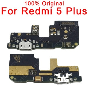 Original Charging Port For Xiaomi Redmi 5 Plus Charge Board USB Plug Flex Cable PCB Dock Connector Replacement Spare Parts
