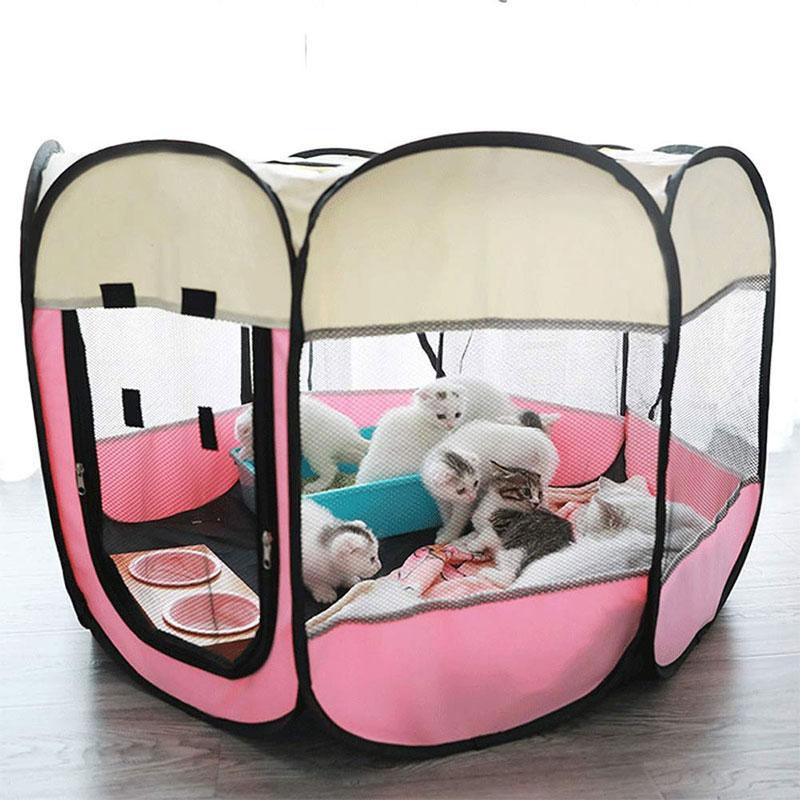 Cercas de perro para exterior portátiles, para perros, jaula plegable para perros