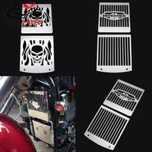 2 Pcs Motorcycle Bone Skull Grill Grille Brandstoftank Guard Radiator Cover Voor Suzuki VL 1500 1500LC VL1500 Intruder 1998 -2008