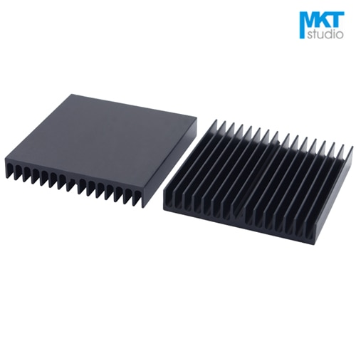 5Pcs Comb Type Black 60*60*10mm Aluminum Cooling Fin Radiator Heat Sink For TO-3P, MOS, IC, Amplifier, Power, Motherboard