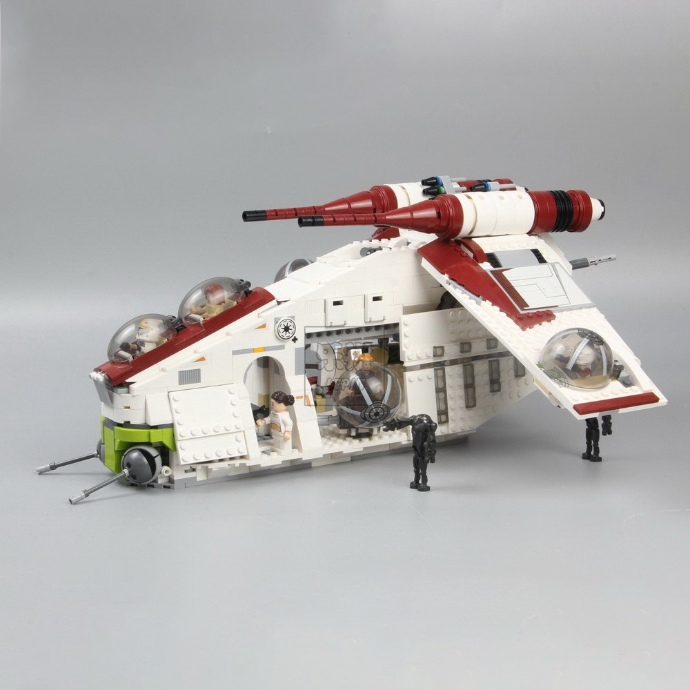 Lepining 05041 War UCS The Republic Gunship  X-Wing Tie Fighter Star Wars Building Blocks Set Bricks toys 75021 75102 Christmas