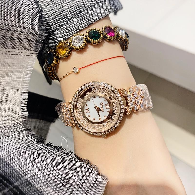 horloges vrouwen Woman Diamond Watches Mission Runway Quartz Watches Lady Female Bracelet Wrist Watch Women Clock relojes mujer enlarge