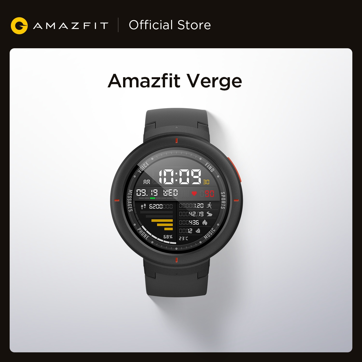 New Amazfit Verge Sport Smartwatch GPS Bluetooth Microphone Speaker Pedometer Message Push for Android iOS Phone