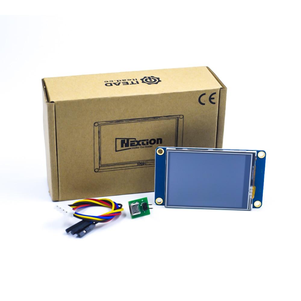 Nextion NX3224T024 2,4, 2,8, 3,2, 3,5, 4,3, 5 7 pulgadas interfaz hombre-máquina HMI del núcleo de la pantalla táctil TFT LCD Módulo de pantalla del Panel