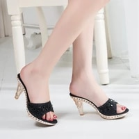 women pumps sexy high heels female crystal party woman spike heels sandals gold open toe ladies shoes