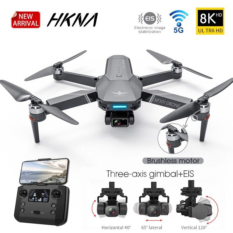 جديد KF101 نظام تحديد المواقع بدون طيار 4K المهنية 8K HD EIS كاميرا مكافحة هزة 3-محور Gimbal 5G واي فاي فرش السيارات RC طوي كوادكوبتر