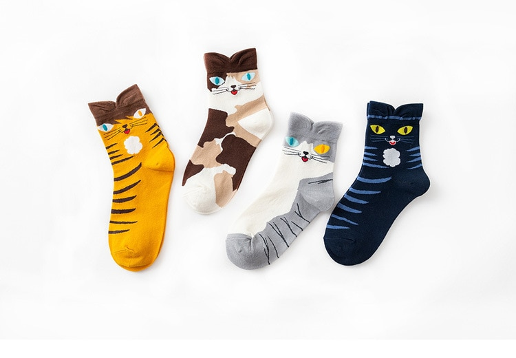 Cartoon Stereoskopischen Katzen Kurze Socken Frauen Socken Neue Mode Stil 2020 für Mädchen Dame Hohe Qualität