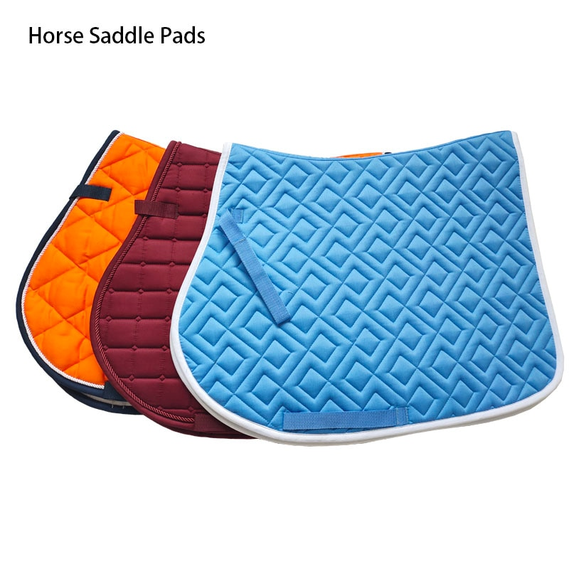 Horse Riding Protective Cotton Cushion Saddle Pad Sweat Absorbing Horse Riding Show Breathable Soft Equestrian Saddle Cover aoud saddlery horse riding saddle pvc training saddle synthetic saddle endurance saddle with handle for safety color black brown