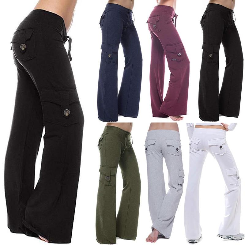 Брюки-карго женские, сильные эластичные Широкие штаны, мягкие джоггеры, спортивные Прямые спортивные штаны на шнуровке