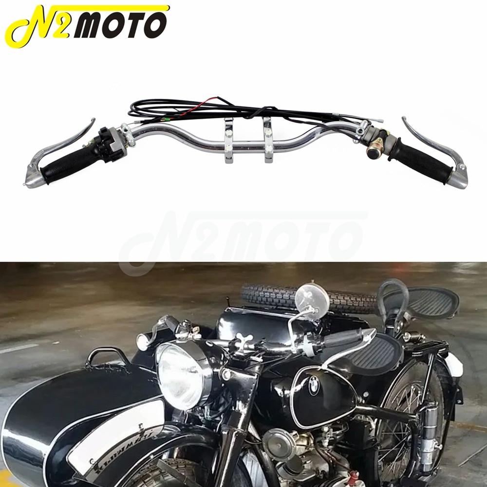 Motorcycle Handlebar Assembly Retro Handle Bar Lever Cable Grip Bar Mount Bracket for BMW R12 R75 R66 R71 K750 KS750 Ural