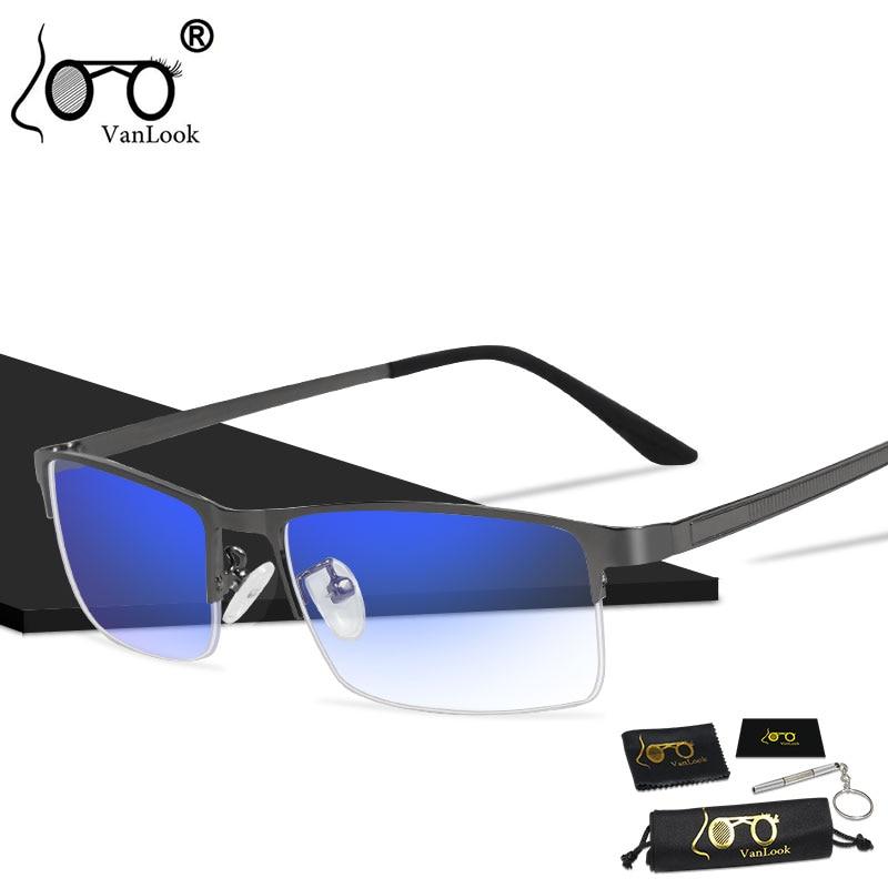 Men's Blue Light Blocking Glasses for Computer Eyeglasses Blaulicht Gaming Protection Blue Ray Goggles Anti Radiation Antiglare