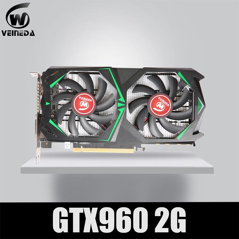 VEINEDA Graphics Cards  GTX960 2G DDR5 128Bit  PC Desktop video card PCI E 2.0 For nVIDIA Geforce Ga