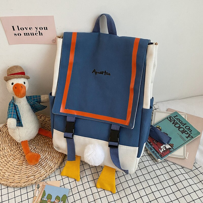 Backpacks for School Teenagers Girls Cute Ring Bag Designer Travel Laptop Backpack Women Notebook Back Pack Canvas Bagpack