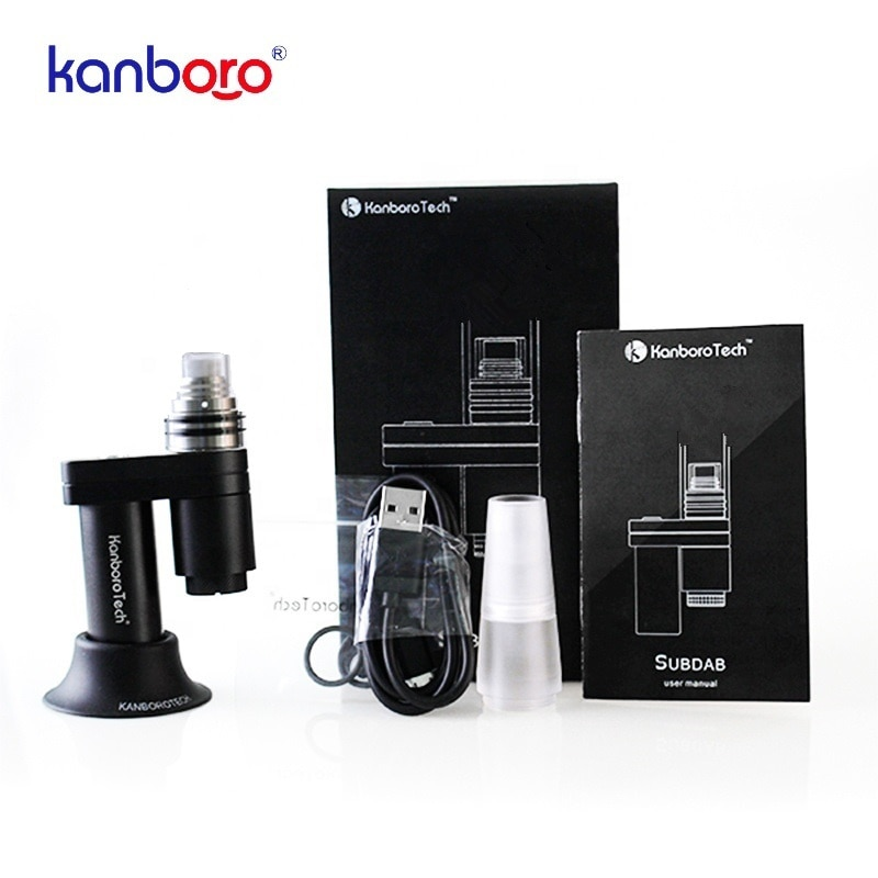 Kanboro Subdab-طقم أظافر كهربائي لتركيز الشمع والأعشاب ، صغير ومحمول