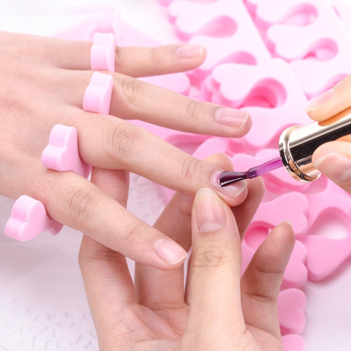 Novo 50 pçs espuma macia esponja dedo do pé separadores dedo do pé divisor de dedo unha arte manicure pedicure ferramentas dedo algodão unha arte manicure ferramentas