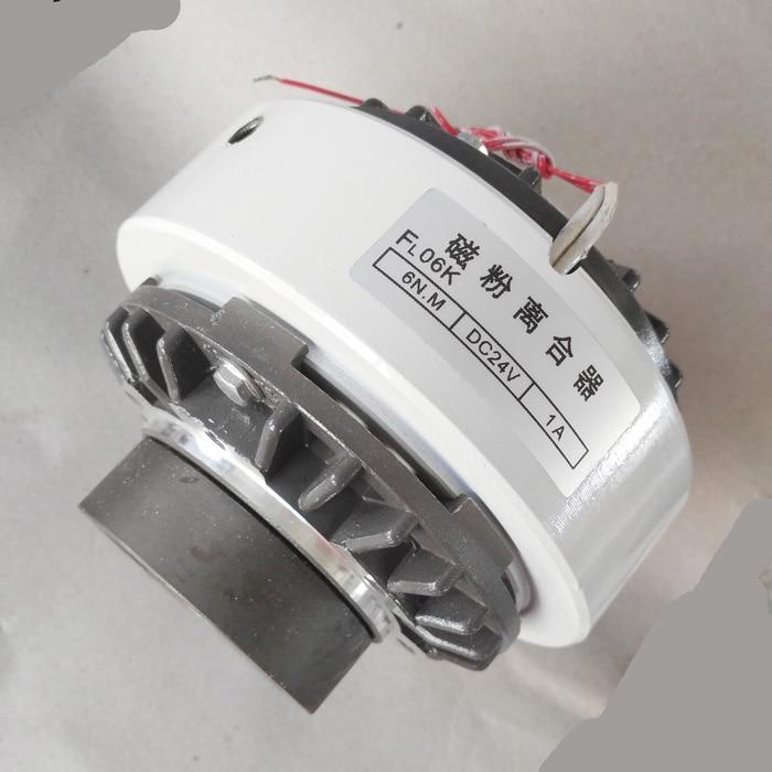 مخلب مسحوق مغناطيسي FL06k FL15K FL25 50 100K التوتر المحرك المغناطيسي نوع ثقب الفرامل