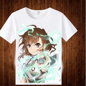 Toaru Kagaku no Railgun Misaka Mikoto T-shirt Anime Cosplay Costume Anime To Aru Majutsu no Index T shirt Men Women Tops