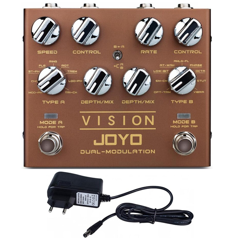 Joyo R-09 Vision Modulation Peripheral Effects Electric Pedals Multi-Effects Pedalboard Nine Effects Dual Channel Tap Tempo enlarge