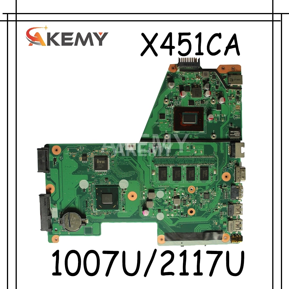 Placa base para ordenador portátil Akemy para ASUS X451CA F451 F451C X451CA placa base Rev. 1 HM70 1007U/2117U 2G RAM GMA HD 3000