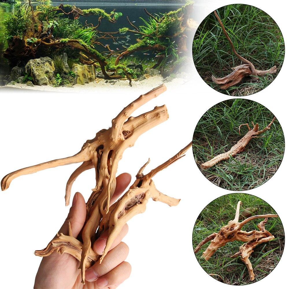 Ствол дерева микро ландшафт рептилия цилиндр аквариум орнамент корни Cuckoo украшение аквариума натуральная древесина