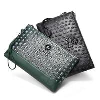 ktefei 2021 fashion skull clutch bag mens handbags for men simple envelope bag ghost head purses retro party hand bag