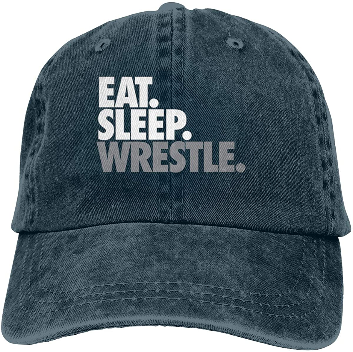 Eat Sleep Wrestle Youth Unisex Soft Casquette Cap Vintage Adjustable Baseball Caps