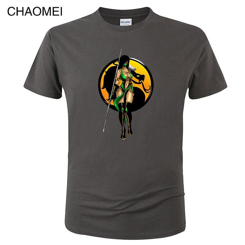 """""""Mortal Kombat"""" Jade camiseta para hombre estampada 100% algodón MK estampado de juego camiseta Homme Harajuku Top Tees 2019 caliente Camiseta Hombre C136"""