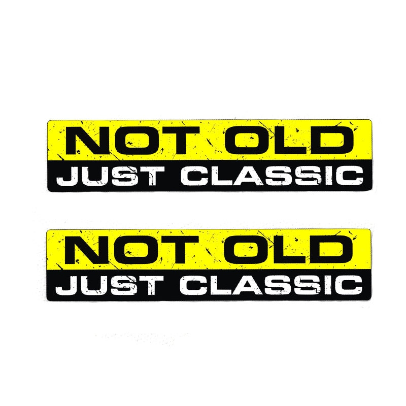 PLAY COOL Car Sticker 2X NOT OLD CLASSIC Interesting Character Auto Motorcycles Exterior Accessories PVC Decals,16cm*3.4cm