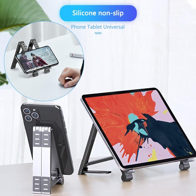 حامل ألومنيوم قابل للطي للكمبيوتر المحمول مقاس 7-17 بوصة ، Macbook Pro ، سطح مكتب ، كمبيوتر لوحي ، حامل هاتف