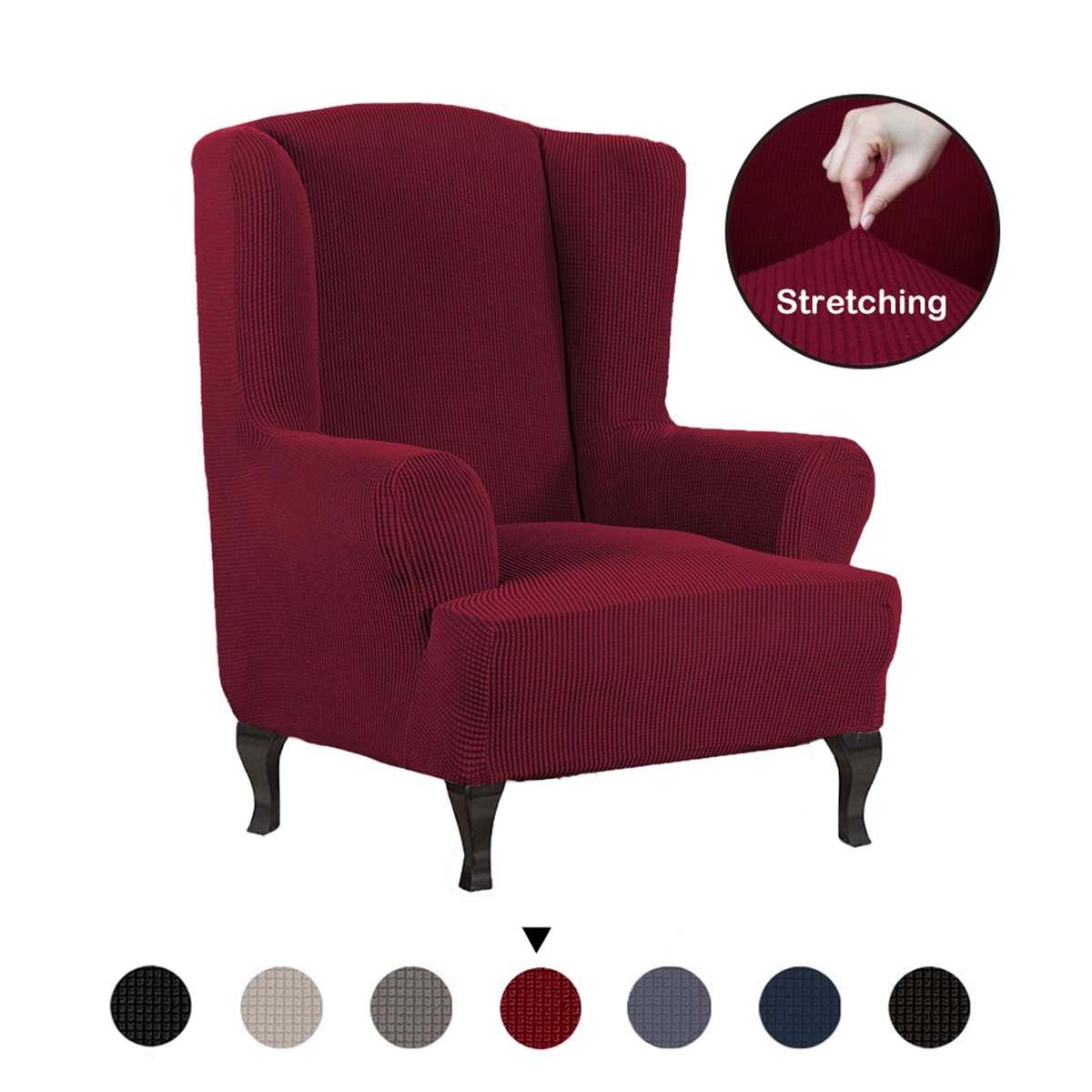 Todo Incluido sillón elástico Wingback silla Wing Back cubierta de la silla con brazo ranurado King Back cubierta elástica para sillas cubierta protectora