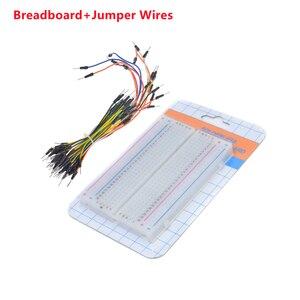 Breadboard 400 Point Solderless PCB Mini Universal Test Bread Board Develop DIY Protoboard for arduino kit + 65 jumper wires