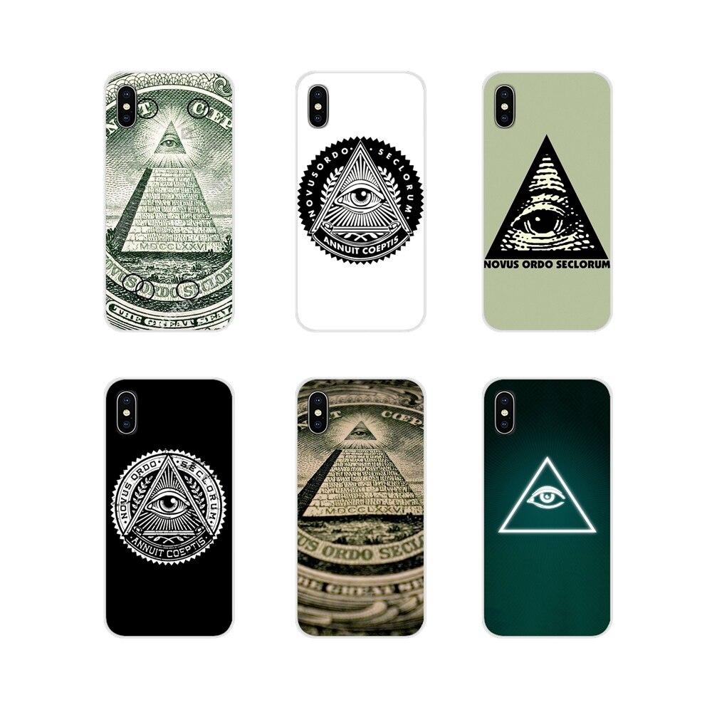 Novus Ordo Seclorum los Iluminati para Apple iPhone X XR XS 11Pro MAX 4S 5S 5C SE 6 6S 7 7 Plus ipod touch 5 6 TPU transparente bolsa caso