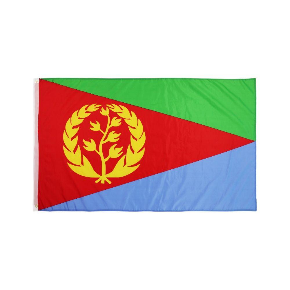 Флаг Эритреи из полиэстера, печатные флаги и баннеры эритрейских стран для декора