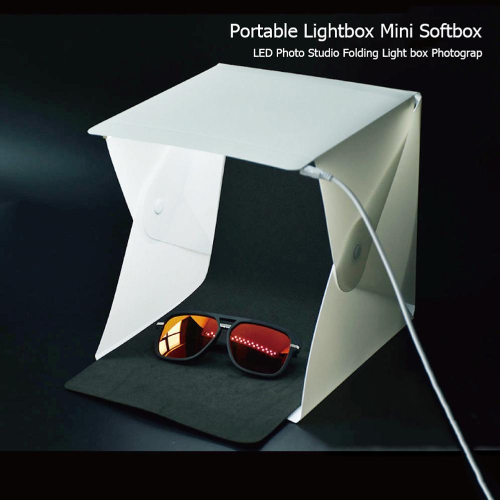 Caja de luz LED portátil para estudio de fotografía de 20x20cm, Mini caja de luz para foto para cámara DSLR, adecuada para grabar joyería de Boutiques