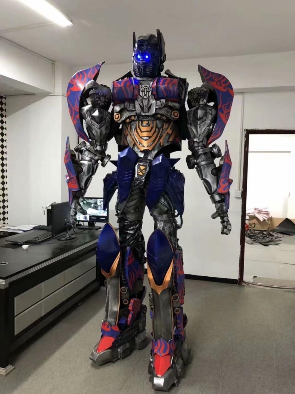 O wearable optimus prime traje de transformadores 5 o último cavaleiro transformadores cosplay trajes de festa