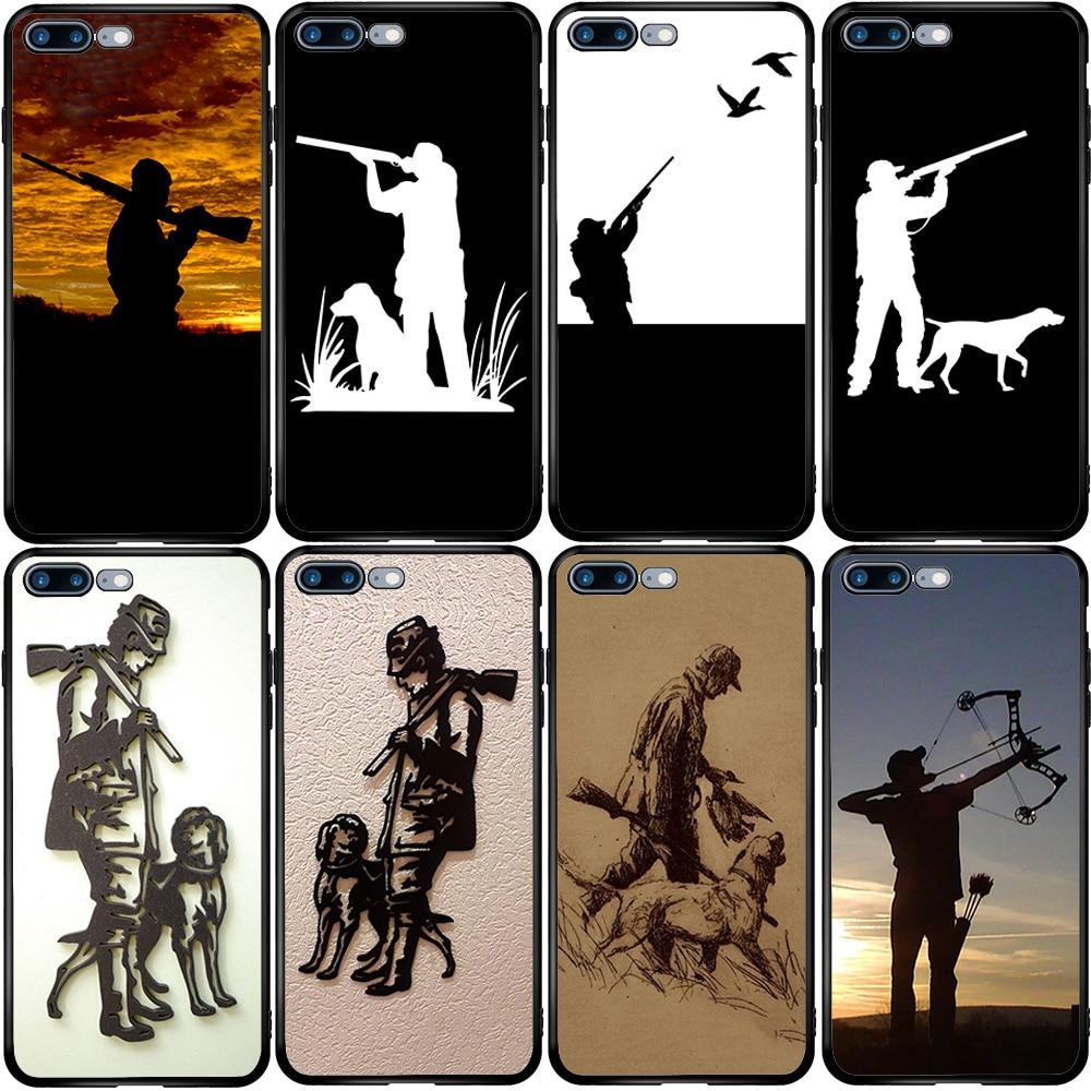 Capa para o iphone 5 5S se 2020 6s 7 8 xs xr 11 12 oneplus 3 5t 6t 7t pro max mais caçador caça ao cão