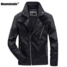 Alpinskin nouvelle veste en cuir hommes 2020 hiver hommes mode moto veste PU coupe-vent manteau mâle marque vêtements 6XL SA805