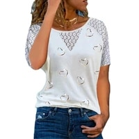 short sleeve casual t shirt women fashion lace t shirts sexy hallow patchwork tops white oversized t shirt lady mujer camisetas