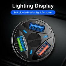 QC3.0 3 USB universel chargeur de voiture   Allume-cigare, chargeur de voiture à charge rapide, chargeur de voyage, accessoires de voiture intérieur pour Xiaom