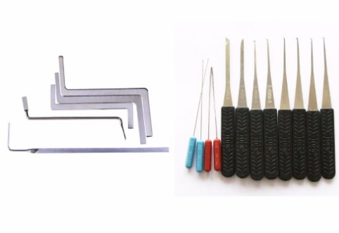 Las herramientas especiales profesionales de cerrajero para quitar un candado para uso de mantenimiento