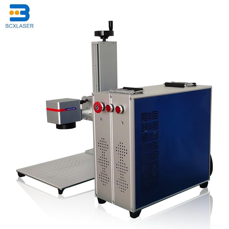 سبليت مكتب محمول نوع 10 واط 20 واط 30 واط آلة التعليم بليزر الألياف RAYCUS 200*200 المعادن ماكينة الحفر بالليزر مع Rotatry