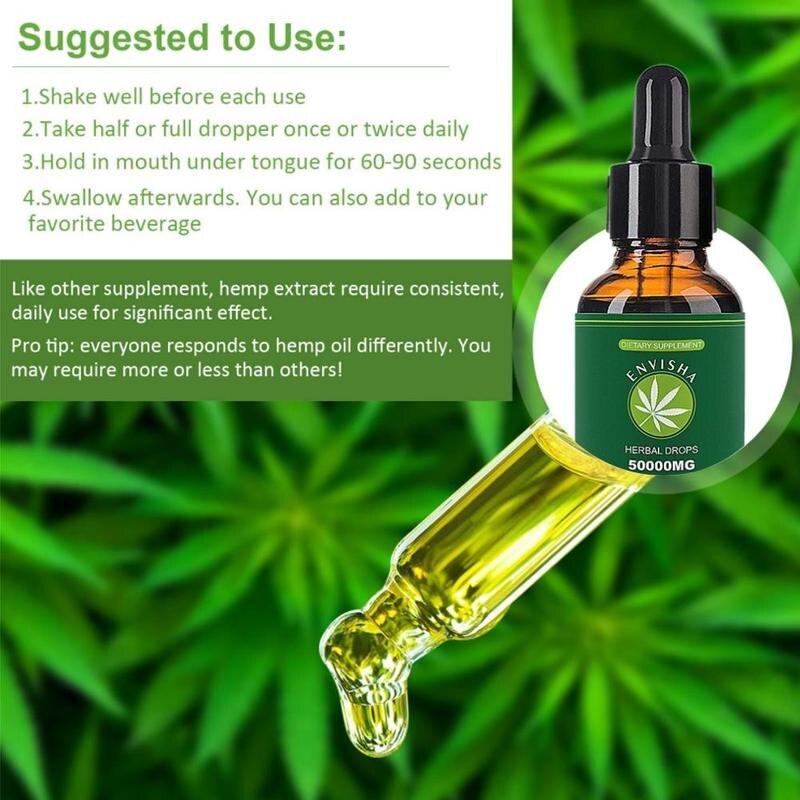 1 шт. 30 мл 100% натуральное конопляное масло для облегчения боли помощь для сна антистресс 50000 мг содержит экстракт CDB конопляное масло для ухода за кожей тела