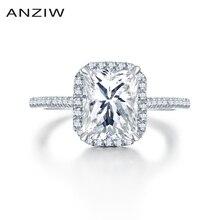 Victoria wieck anel de noivado retângulo corte auréola promessa amante anelli quadrado 925 prata esterlina casamento bague anel