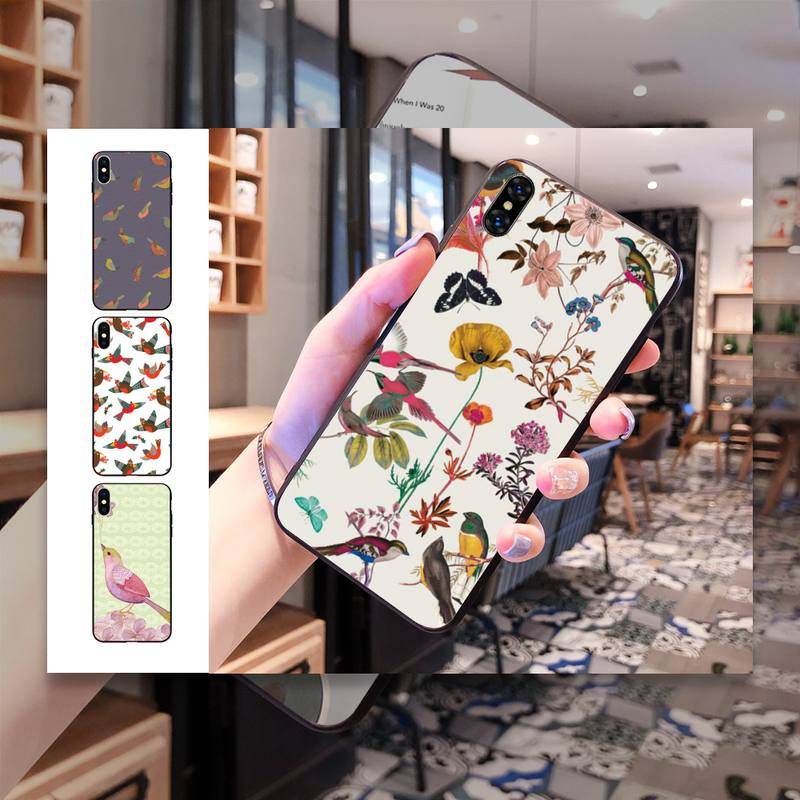 2020 heißer Vogel Und Beeren Telefon Fall Für Iphone 11 Pro Max 8 7 6 6S Plus Xr Xsmax X Xs Se Telefon Fall Abdeckung Capa Fundas