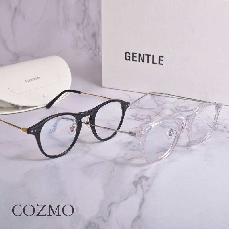 جنرال موتورز مستديرة النساء النظارات إطارات لطيف COZMO قصر النظر نظارات إطار النساء الرجال نظارات للقراءة إطار عادي الزجاج مشهد