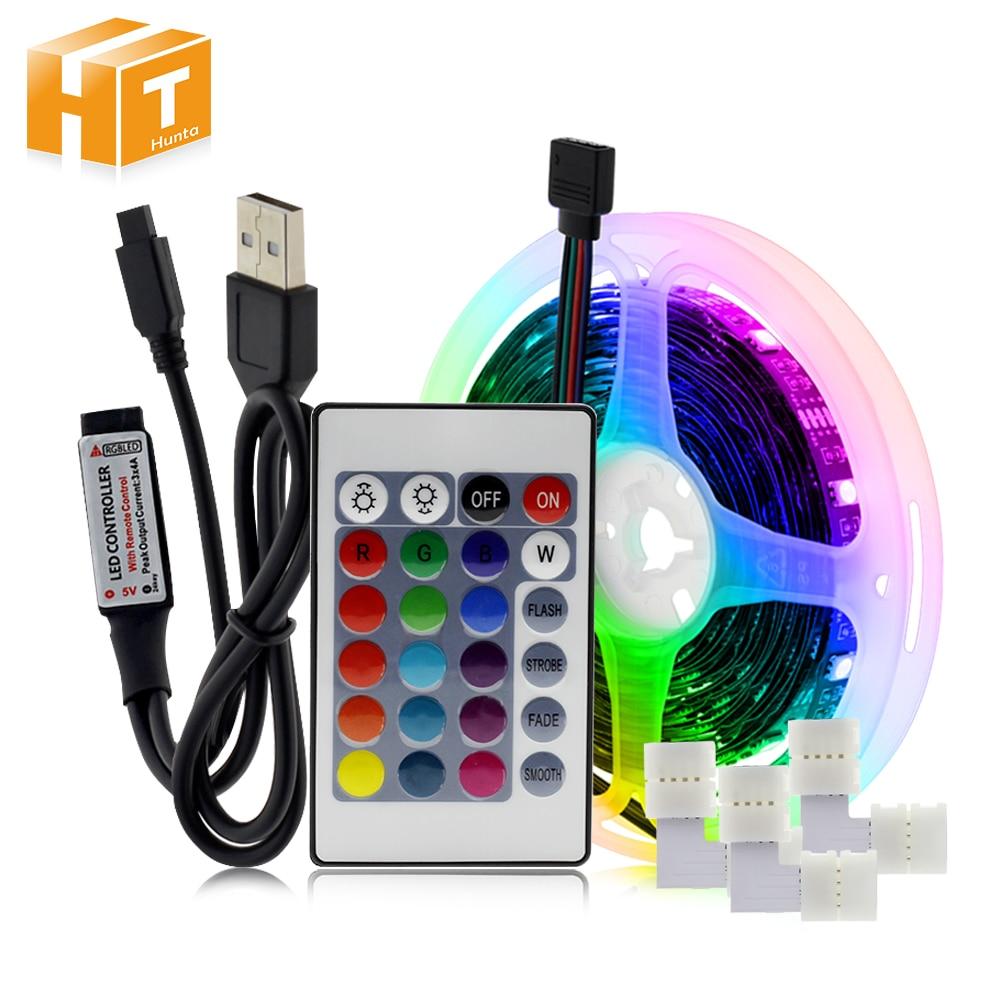 DIY RGB Changeable USB LED Strip 5050 Flexible LED Light 2m 3m 5m Bluetooth Control / Music Control LED TV Background Lighting.