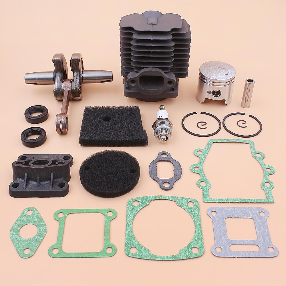 40 мм цилиндрический коленчатый вал, поршневой комплект для Робина NB411 EC04 CG411, уплотнительная прокладка впускного коллектора, св...