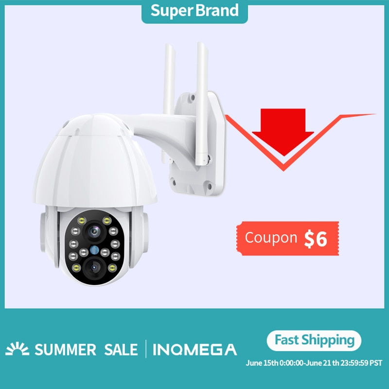 3mp ir dome camera 1 2 8 sony vandalproof 2 8 12mm zoom with ir cut poe p2p remote privacy mask etc INQMEGA 3MP FHD PTZ Wifi Camera Outdoor 3.6mm+12mm Dual Lens 4X Zoom Speed Dome Smart IP Camera 40M Color IR CCTV Camera CMOS